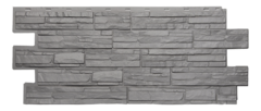 Фасадные панели (Цокольный Сайдинг) Т-Сайдинг (Техоснастка) Альпийская Сказка Серый (одноцветный)