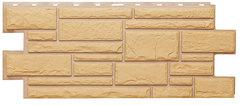 Фасадные панели (Цокольный Сайдинг) Т-Сайдинг (Техоснастка) Дикий Камень Бежевый