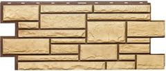 Фасадные панели (Цокольный Сайдинг) Т-Сайдинг (Техоснастка) Дикий Камень Пустынный