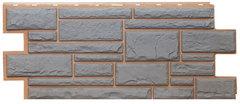 Фасадные панели (Цокольный Сайдинг) Т-Сайдинг (Техоснастка) Дикий Камень Серый