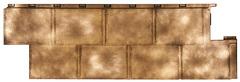 Фасадные панели (Цокольный Сайдинг) Т-Сайдинг (Техоснастка) Галактика Золото
