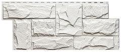 Фасадные панели (Цокольный Сайдинг) Т-Сайдинг (Техоснастка) Гранит Леон Белый (одноцветный)