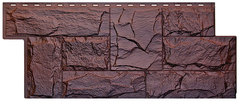 Фасадные панели (Цокольный Сайдинг) Т-Сайдинг (Техоснастка) Гранит Леон Памир (двухцветный)