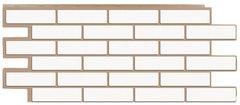 Фасадные панели (Цокольный Сайдинг) Т-Сайдинг (Техоснастка) Керамит (Кирпич Керамический) Белый