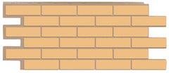 Фасадные панели (Цокольный Сайдинг) Т-Сайдинг (Техоснастка) Керамит (Кирпич Керамический) Бежевый