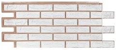 Фасадные панели (Цокольный Сайдинг) Т-Сайдинг (Техоснастка) Лондон Брик Белый