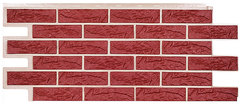 Фасадные панели (Цокольный Сайдинг) Т-Сайдинг (Техоснастка) Лондон Брик Бордо