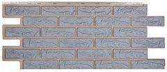 Фасадные панели (Цокольный Сайдинг) Т-Сайдинг (Техоснастка) Лондон Брик Серый