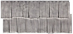 Фасадные панели (Цокольный Сайдинг) Т-Сайдинг (Техоснастка) Щепа Дуб Кавказ