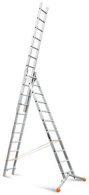 Лестница трехсекционная Эйфель Ювелир 3х11