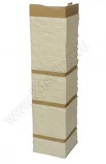 Угол наружный к Фасадным Панелям Альта-Профиль Камень Белый