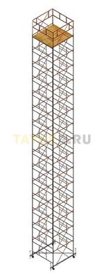 Вышка тура строительная Ортус 600 настил 2.0 х 2.0 м., высота 19,5 м