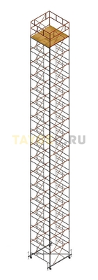 Вышка тура строительная Ортус 600 настил 2.0 х 2.0 м., высота 20,7 м