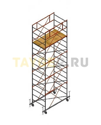 Вышка тура строительная СВ 1,2х2.0 настил 1,2 х 2.0 м., высота 6,3 м