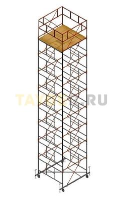 Вышка тура строительная СВ 2,0х2.0 настил 2,0 х 2.0 м., высота 11,1 м