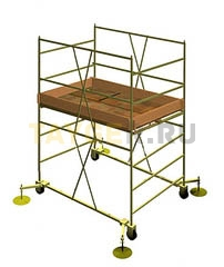 Вышка тура строительная УЛТ-120 настил 1,2x2,0 м., высота 2,6 м