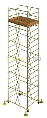 Вышка тура строительная УЛТ-125 настил 1,2x2,0 м., высота 11,7 м