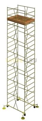 Вышка тура строительная УЛТ-125 настил 1,2x2,0 м., высота 13,6 м