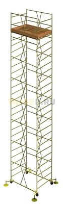 Вышка тура строительная УЛТ-125 настил 1,2x2,0 м., высота 15,5 м