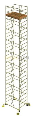 Вышка тура строительная УЛТ-125 настил 1,2x2,0 м., высота 17,4 м