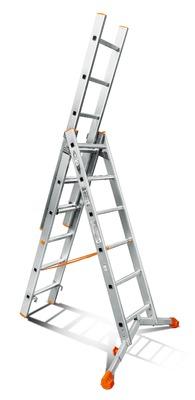 Лестница трехсекционная Эйфель Ювелир 3х6