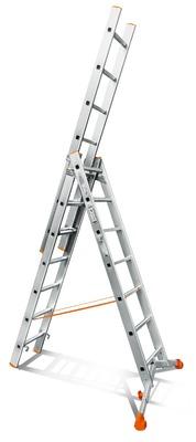 Лестница трехсекционная Эйфель Ювелир 3х7