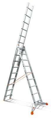 Лестница трехсекционная Эйфель Ювелир 3х9